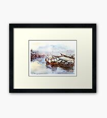 House-boat in Thailand Framed Print