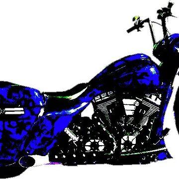 2012 Harley-Davidson BLUE SKULLS by SK8N