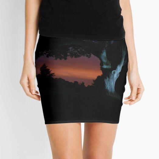 Night Tree Mini Skirt