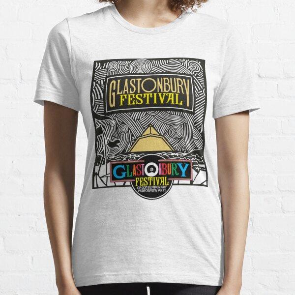 Glastonbury Best Music Festival Logo Design para ropa, estampados, mercadería, etc. Camiseta esencial