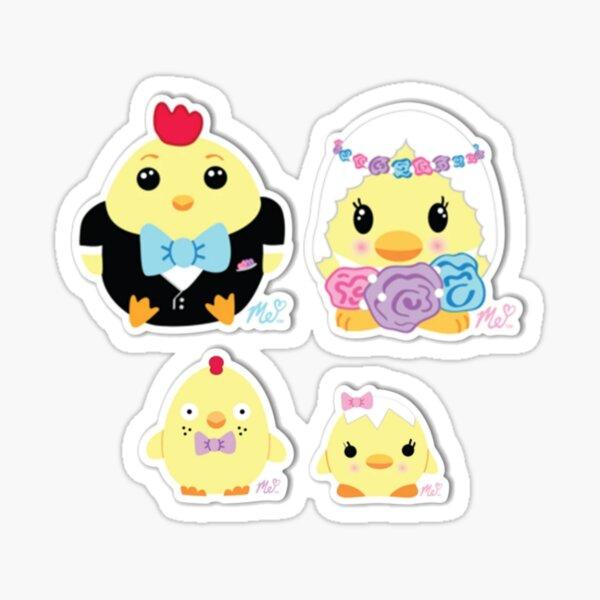 Moriah Elizabeth chicken family sticker pack Sticker