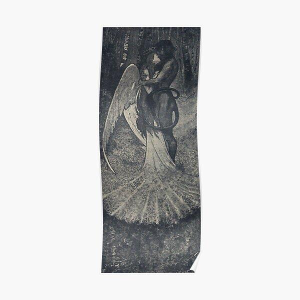 Angel Kissing Demon, by Artuš Scheiner Poster