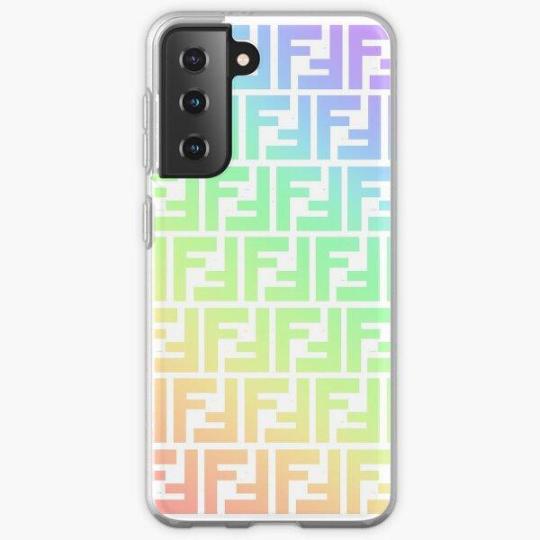 Fendi Monogram Logo Rainbow Samsung Galaxy Soft Case