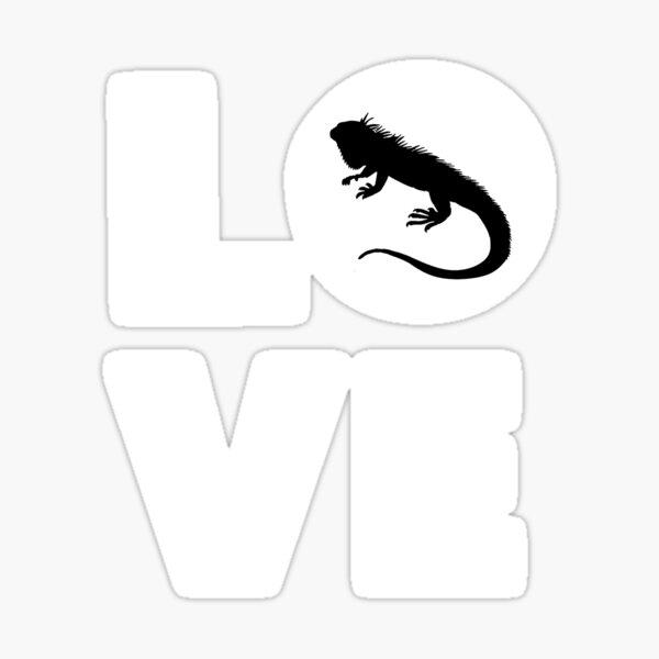 Iguana Heart Love Iguana Mom Lovers Iguana Players Gift Iguana Evolution Lover Sticker