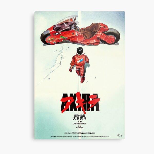 AKIRA - Póster de película japonesa vintage Lámina metálica