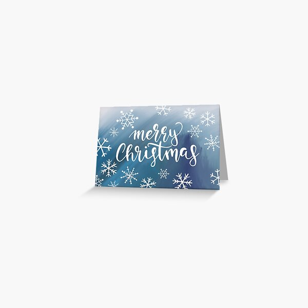 Merry Christmas Snowflakes Greeting Card
