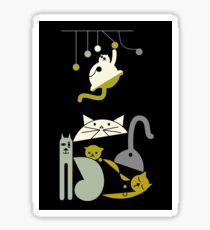 Cats playing  Sticker