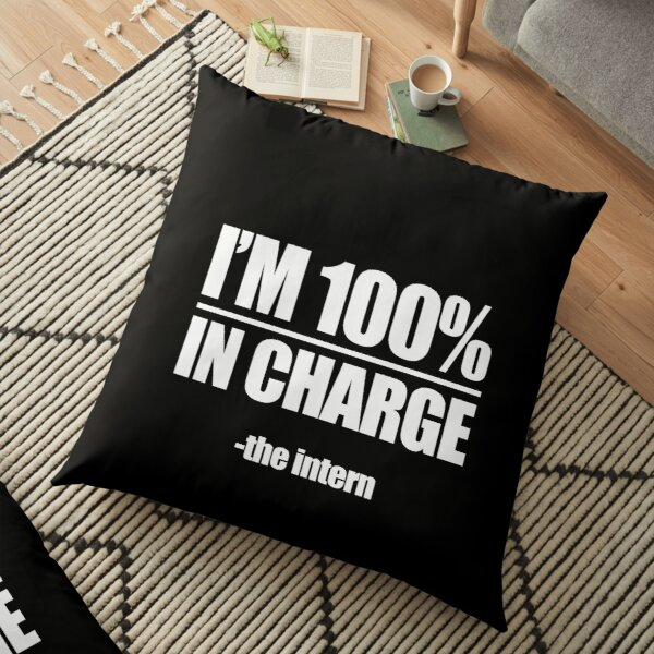 I'm 100 percent in charge The intern Floor Pillow