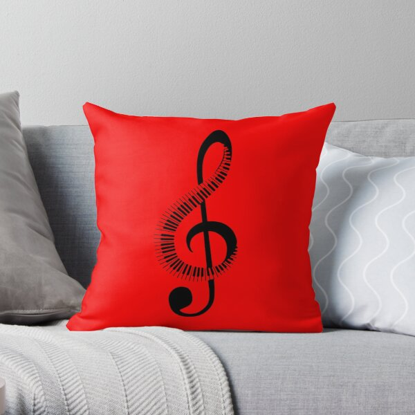 piano, note Throw Pillow