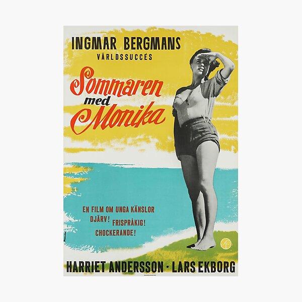 Summer with Monika - Vintage Swedish Movie Poster Photographic Print
