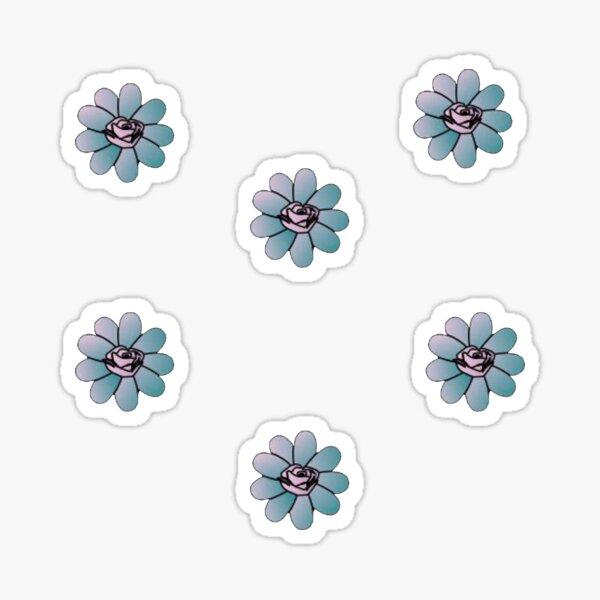 posiciones paquete de pegatinas de flores Pegatina