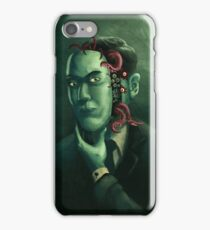 H.P. Lovecraft (w/background) iPhone Case/Skin