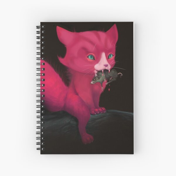 Hungry cat Spiral Notebook