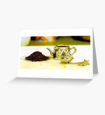 Tea infuser Greeting Card