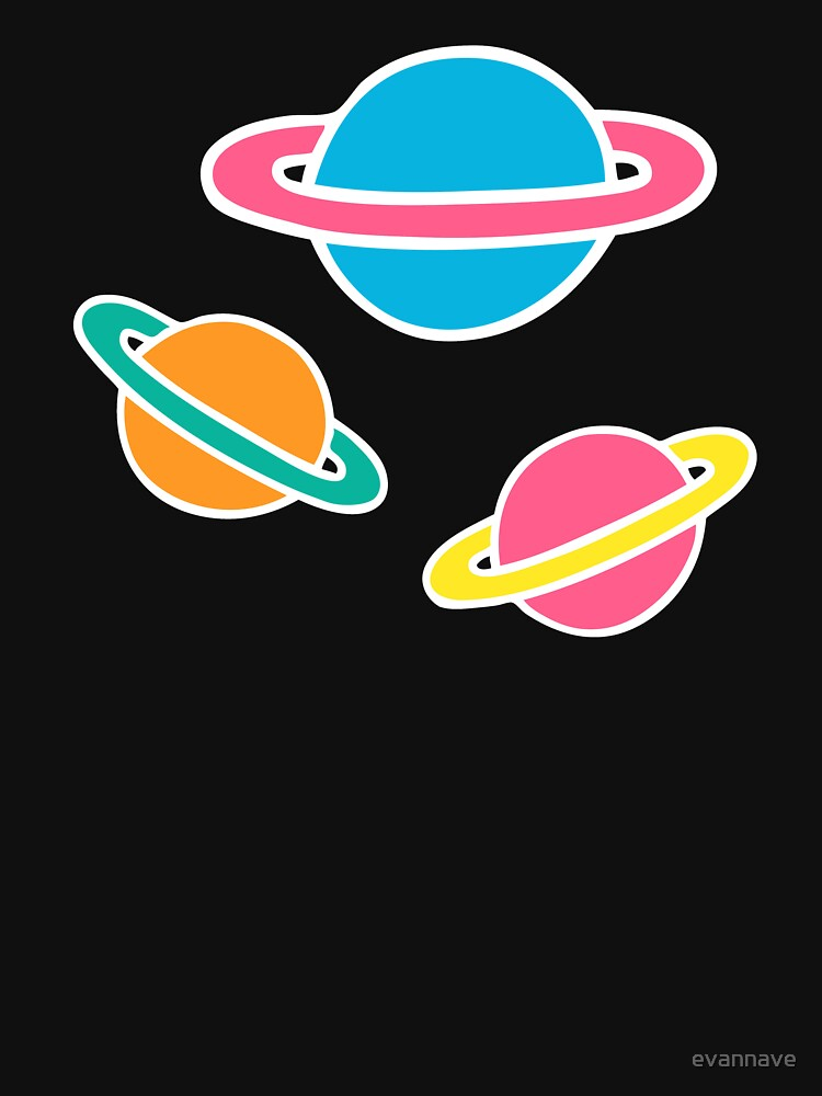 Pink Planets Pattern by evannave