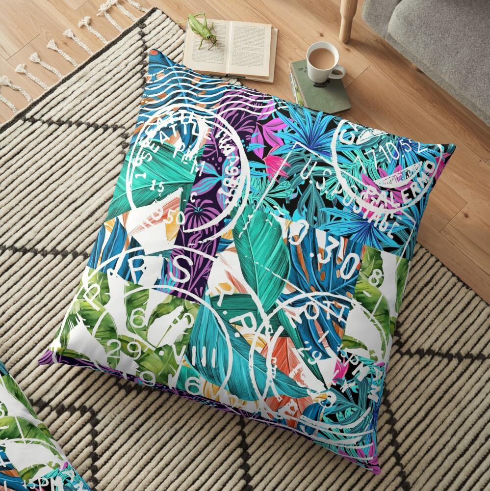Bon Voyage Floor Pillow