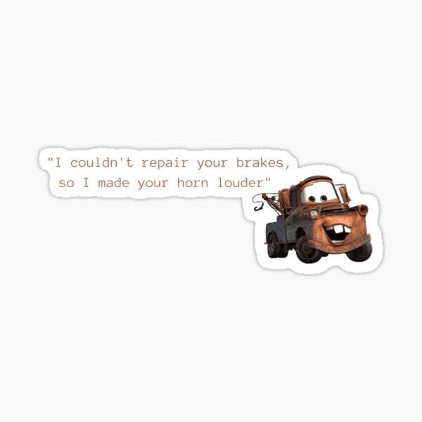 Tow Mater Autos zitieren Sticker