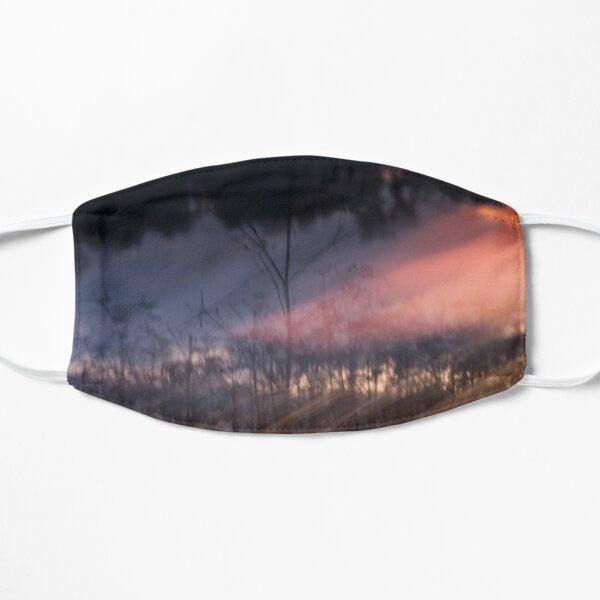 Photographie abstraite coucher de soleil au bord de la rivière Masque sans plis
