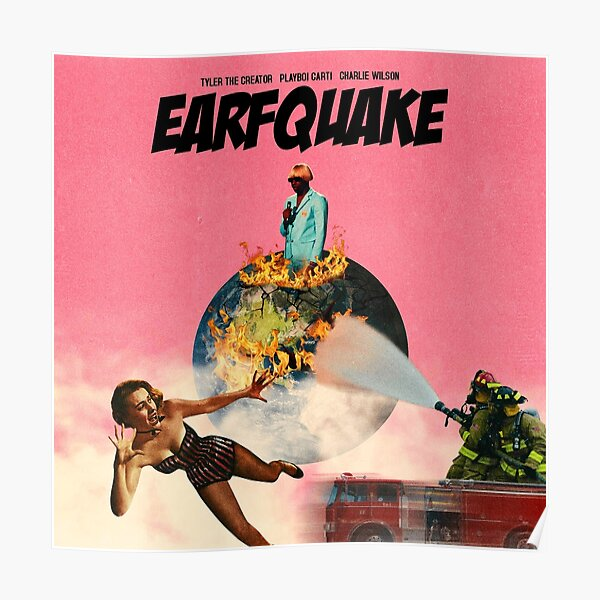 Earfquake Tyler Pink Poster