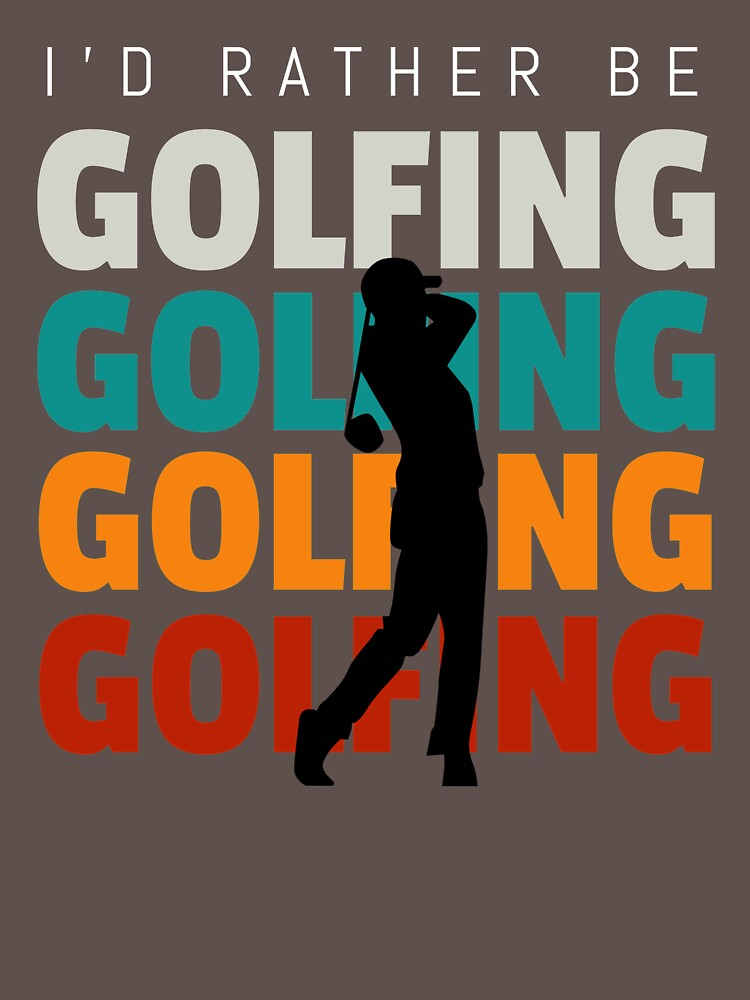 Id rather be golfing vintage by ds-4