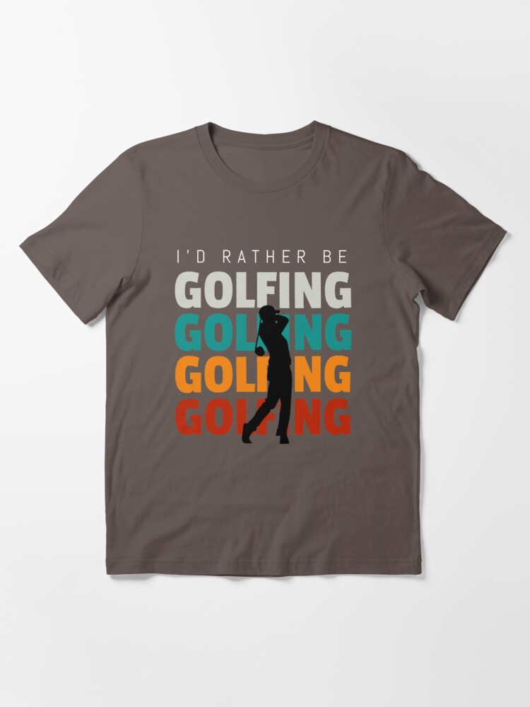 Alternate view of Id rather be golfing vintage Essential T-Shirt