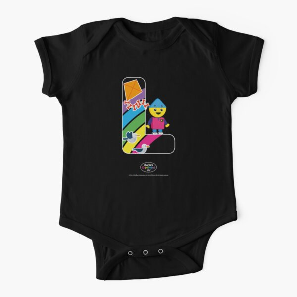Initial L Charlie's Colorforms City Short Sleeve Baby One-Piece