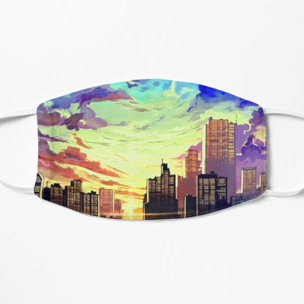 Sunrise In The Blue City  Flat Mask