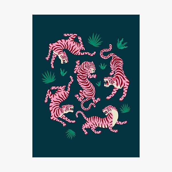 Night Race: Pink Tiger Edition Photographic Print