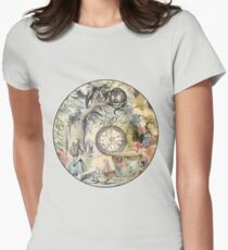 Cheshire Cat Alice in Wonderland  Womens Fitted T-Shirt