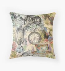 Cheshire Cat Alice in Wonderland  Throw Pillow