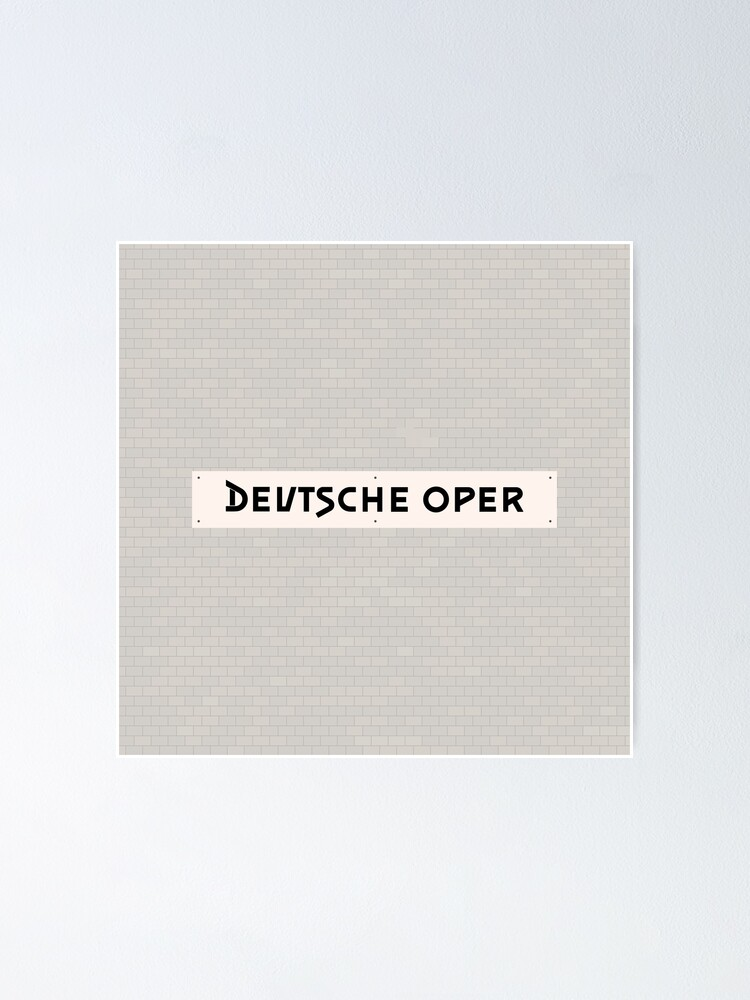 Alternate view of Deutsche Oper Station Tiles (Berlin) Poster