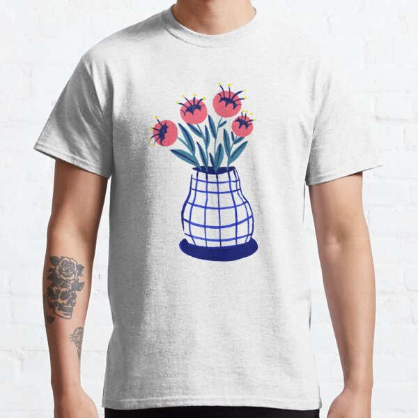 Vase and flowers Classic T-Shirt