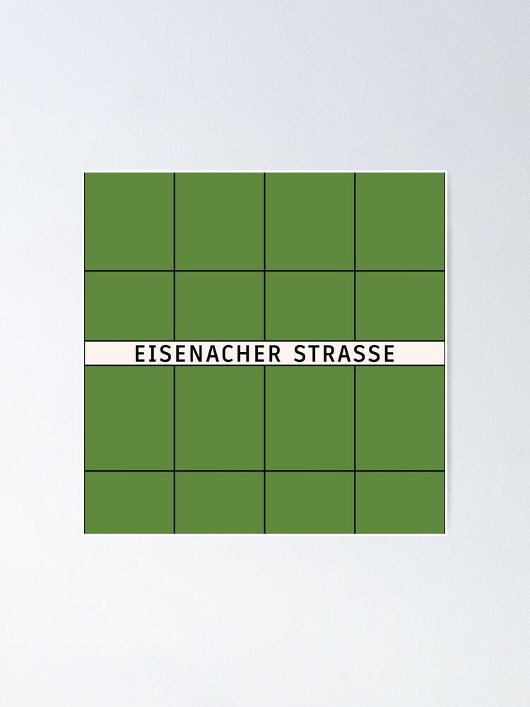 Alternate view of Eisenacher Straße Station Tiles (Berlin) Poster