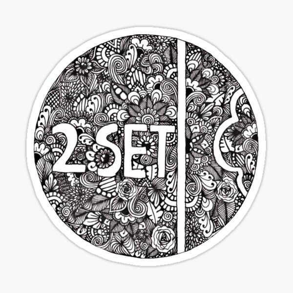 Twoset zentangle logo Sticker