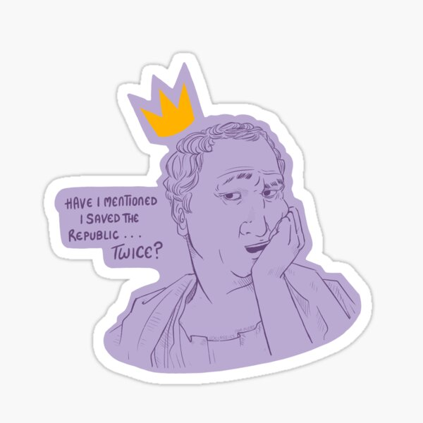 Cicero (sassy edit) Sticker