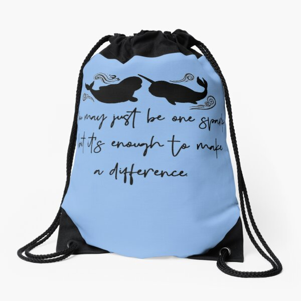 One Spark makes a Difference Drawstring Bag