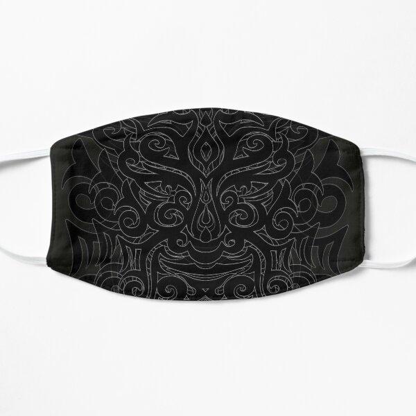 Tribal Maori Warrior Tattoo Mask Flat Mask