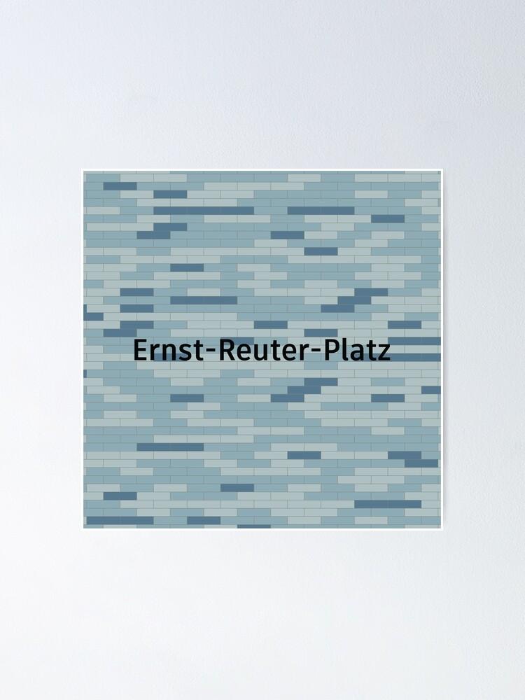 Alternate view of Ernst-Reuter-Platz Station Tiles (Berlin) Poster