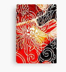 Fire Flower by Jenny Meehan Canvas Print