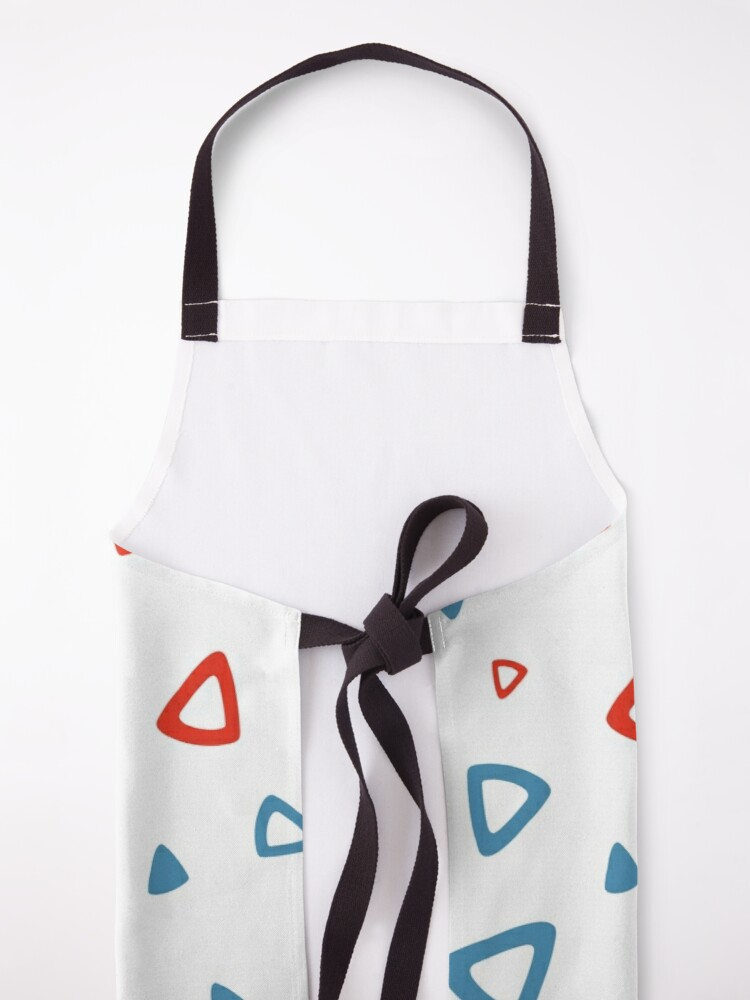 Alternate view of Nostalgic 90s Blue and Red Triangle Pattern Apron