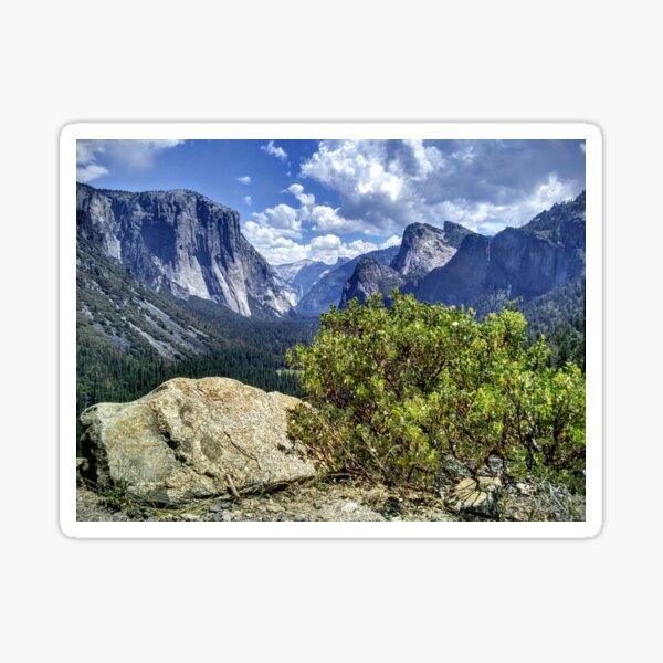 Half Dome, El Cap,Yosemite National Park Sticker