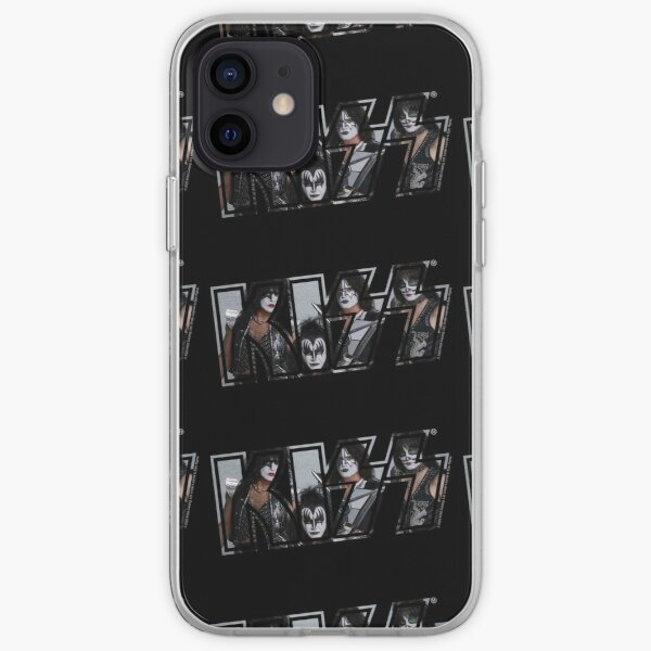 Kiss The Band Classic Poster Logo Dark iPhone Soft Case