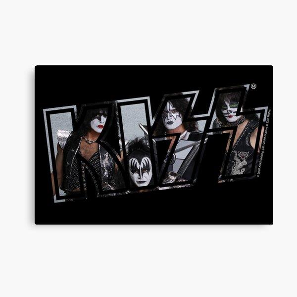 Kiss The Band Classic Poster Logo Dark Canvas Print