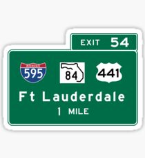 Fort Lauderdale, Road Sign, Florida Sticker