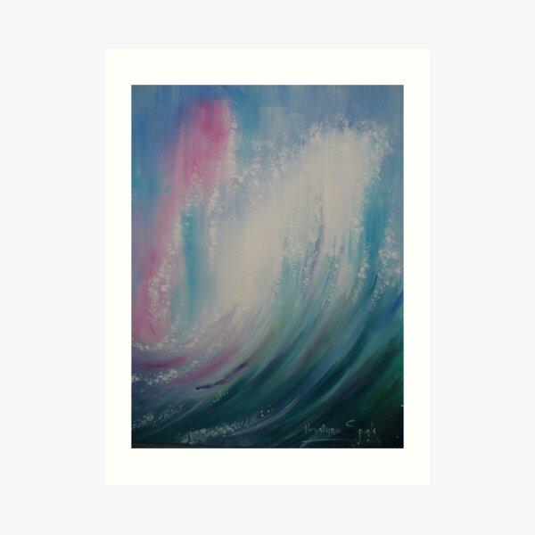 Wave Particles 2 Art Print