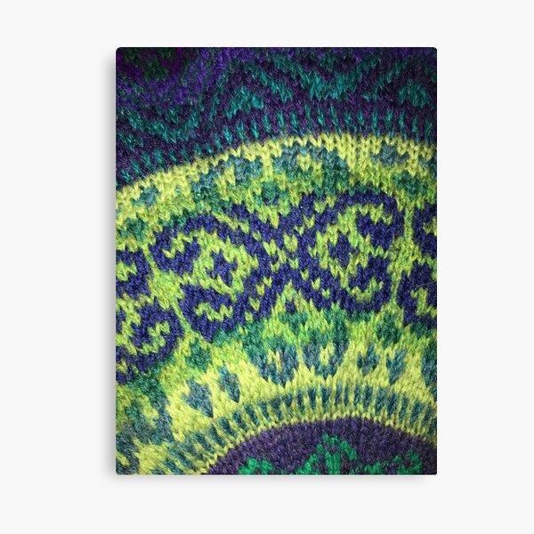 Green Heather motif Canvas Print
