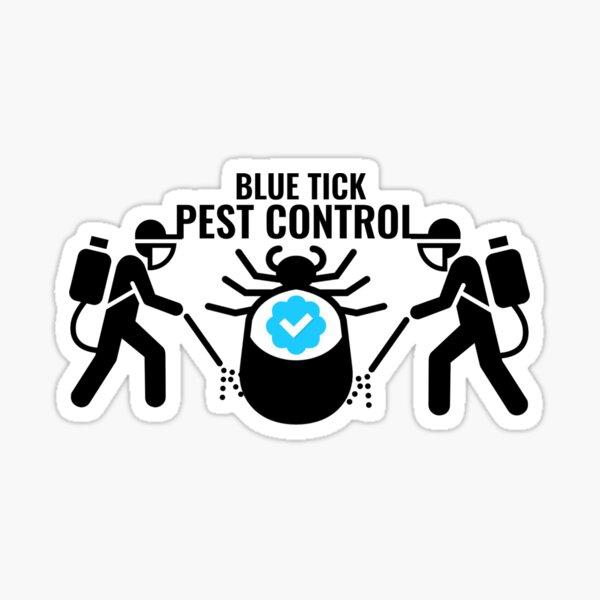 Blue Tick Pest Control Sticker