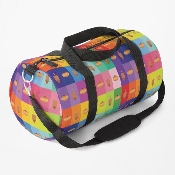 D&D - Doughnuts and Dreidels Rainbow Grid Duffle Bag
