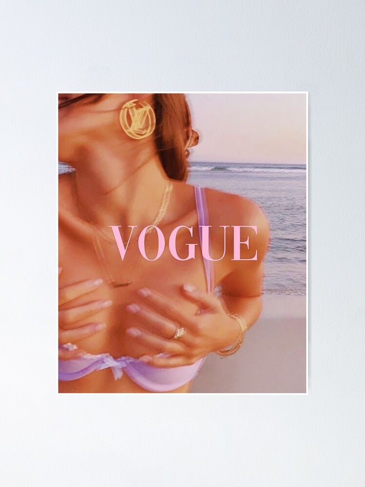 Alternate view of Vogue collage cover Poster Poster