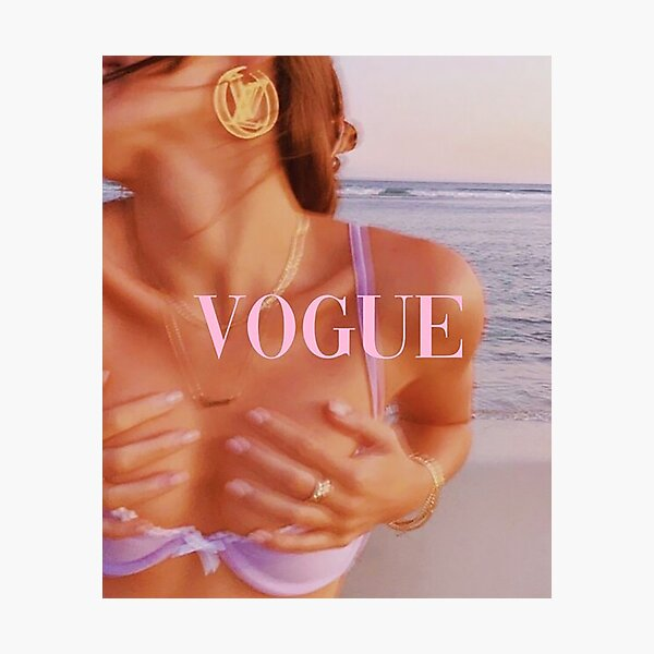 Vogue collage cover Poster Photographic Print